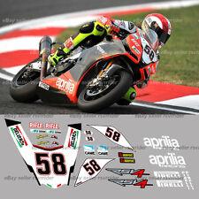 aprilia world superbike marco race decal kit fits 2009 2010 2011 2012 2013 rsv4