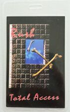 1991 Rush Laminated Backstage Pass Total Access Roll The Bones