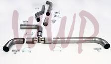 "4"" Turbo Back Dual Smoker Exhaust System For 94-02 Dodge Ram Cummins Diesel 5.9L"