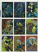 1996 - RAZOR SERIES 2 - METAL AND FLESH COMPLETE CHROMIUM TRADING CARD SET