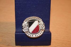Pin DEUTSCHLAND ÜBER ALLES Schwarz Weiss Rot Metall Neu 353