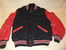 Mens Rennoc Classic Black Red White Lettermans School Wool Jacket Size Large