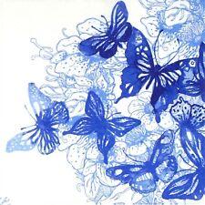 4x Paper Napkins for Decoupage Decopatch Craft Amazing Butterflies Blue