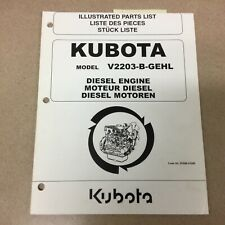 Kubota V2203 B Gehl Diesel Engine Parts Manual Book Catalog List Guide Skidsteer