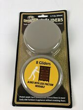 Parker & Bailey Wood & Carpet Gliders, 3.5 inch Set of 8 Reusable
