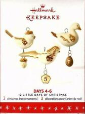 "12 Little Days Of Christmas Series ""Days 4-5-6"" (3) Hallmark Ornaments New"