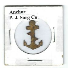 Anchor Chewing Tobacco Tag P.J. Sorg Co. Black on Yellow