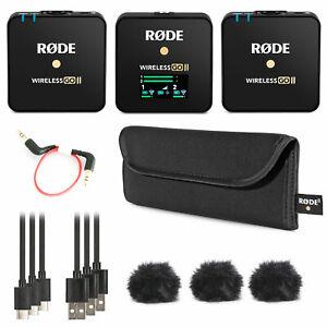 Rode Wireless GO II 2-Kanal Drahtlos Mikrofon-Funksystem
