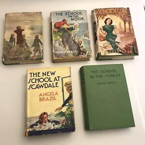 Angela Brazil - Vintage Collection - 5 Hardback Books