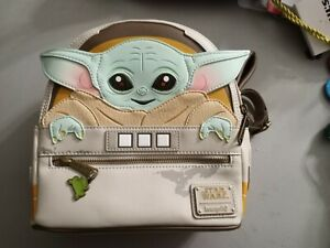 Loungefly Star Wars Baby Yoda Mandalorian Double Strap Shoulder Bag Purse New