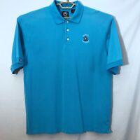 Ahead Mens Golf Shirt Fenwick Golf Course Blue Size L