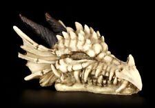 Totenkopf - Drachenschädel mit Hörnern - Fantasy Gothic Schädel Drache Figur