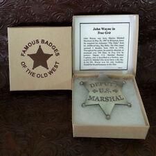 US Marshall  Old West Replica Badge John Wayne Movie True Grit
