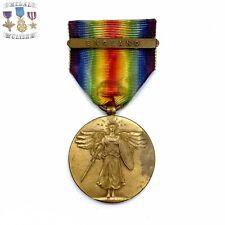 WWI U.S. ARMY VICTORY MEDAL ENGLAND CLASP BAR FULL WRAP BROOCH WW1