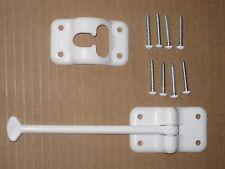 """RV- """"T"""" Plastic Entry Door Holder, 6"""", WHITE, 8 Screws"""