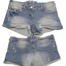 Denim Low Rise Plus Size Hot Pants Shorts for Women