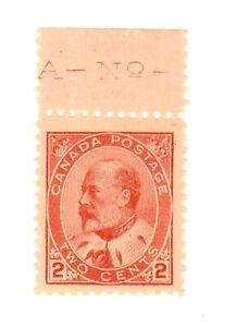 Canada - Edward VII - 1908 - 2 Cent carmin - MNH - Scott.90