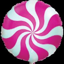 "FUCHSIA HOT PINK CANDY CANE SWIRL 18"" BALLOON FOR WILLY WONKA THEMED PARTY!"