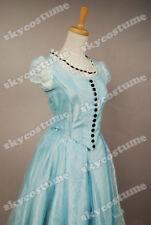 Tim Burton Alice In Wonderland Alice Costume Blue Dress Cosplay Party Dress Prom