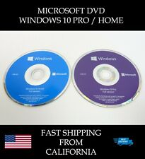 Microsoft Windows 10 PRO or HOME 64bit DVD Kit + Activation License Key COA