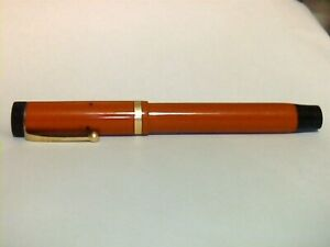 Vintage Parker Duofold Lucky Curve Senior In Red
