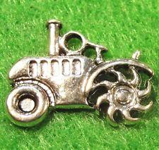 50Pcs. WHOLESALE Tibetan Silver TRACTOR Pendants Charms Earring Drops Q0187