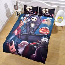 The Nightmare Before Christmas Bedding Set Jack Family Duvet Cover Pillowcase 3p