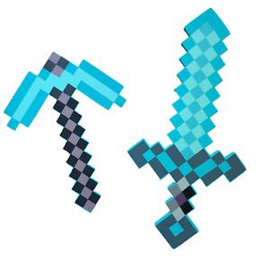 Minecraft Diamond Schwert und Spitzhacke Set Waffen Modell Spielzeug für Kinder