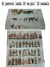 41 pastori landi 10 cm piu 18 animali moranduzzo presepe crib shepherds