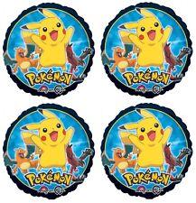 "4x Pokemon Pikachu 18"" Foil Mylar Balloon Party Favors Supplies Decorations"