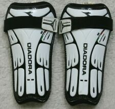 "Diadora Ultimate Black White Soccer Shin Guards Large 5'3""-5'-11"" No Ankle Pads"
