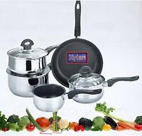XYLAN PLUS 5 Pcs Non Stick Induction Hob Saucepan Cookware Cooking Pan Pot Set