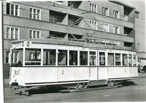 AK BERLIN  Straßenbahn 2 vom Hermannplatz zur Bernauer Str. 50/60er Ja.