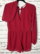 Abercrombie & Fitch Womens Burgundy  Ruby Red Romper Long Sleeve  Size 4