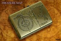 Zippo TREASURE MAP B Gold From Japan