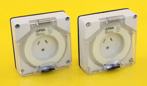 Clipsal 56SO310LLE Socket Outlet 250V 10A Round Earth Lighting ( Pack of 2 )