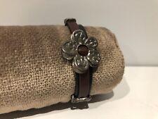 Nueva - Pulsera en Plata y Cuero LA BRUIXETA - Silver & Leather Bracelet