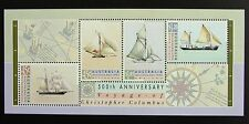 1992 AUSTRALIA 500th ANNIVERSARY VOYAGE OF CHRISTOPHER COLUMBUS MINI SHEET *MUH*