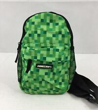 """Minecraft Creeper Backpack 10"""" Mini Kids Green School NWT One Strap"""