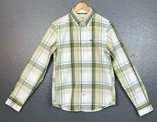 Abercrombie & Fitch Muscle Men's Green Plaid Button Down Long Sleeve Shirt Small