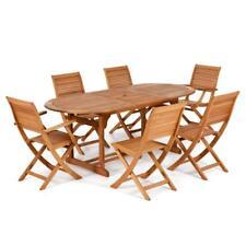 Tavolo in legno eucalipto da esterno allungabile 150/200 arredo giardino esterno