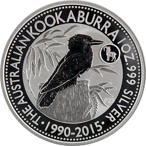 Australia 1 oz Silver 2015 Kookaburra Lunar Goat Privy P25 Mint Capsule BU