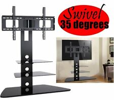 "Universal LED LCD HDTV TV Stand 3 Shelf TV Mount Swivel Wall Bracket 32"" - 80"""