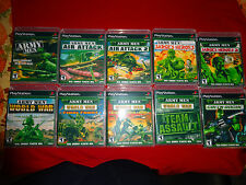 Empty Cases! ARMY MEN 3D Collection SARGE'S HEROES 1 & 2 PLAYSTATION 1 PS1