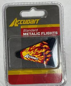 Accudart Standard Metalic Metallic Flights Red Flame 3 Pack Metallic Flight C2