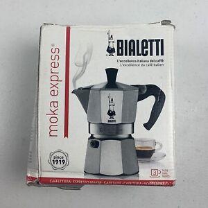 Bialetti 3 Cup Moka Express Stovetop Espresso Coffee Maker Pot Latte 6 ounce