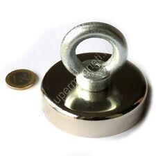 Super Magnete al Neodimio OTN-75 POTENZA 180 Kg CON OCCHIELLO E PERNO IN ACCIAIO