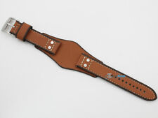 New Original FOSSIL Replacement Watch Strap CH2986 Brown Genuine Leather 22mm