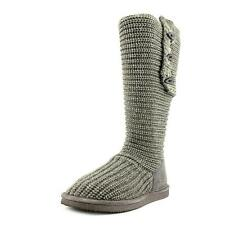 BEARPAW Knit Tall Women US 7 Gray Winter Boot UK 5 New/display Defect 1853