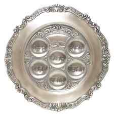 New Gloria's Gifts Pewter Judaica Jewish Pesach Passover Seder Plate .